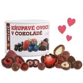 Chrumkavé ovocie a orechy v čokoláde