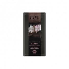 Vivani bio horká čokoláda s mandľami - 100 g