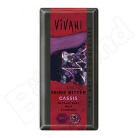 Čokoláda horká s ríbezľami bio 100g Vivani
