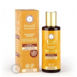 Khadi šampón ORECHOVÁ TRÁVA pre normálne a mastné vlasy